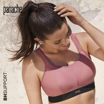 Panache sport bh zonder beugel, voorgevormd in de kleur rose zwart limited edition kleur.