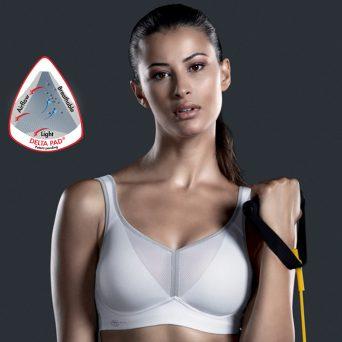 ANITA DeltaPad sport bh zonder beugel, voorgevormd 'Wit'.