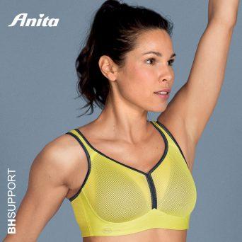 Nieuwe kleur Anita sport bh Deltapad zonder beugel in yellow antraciet