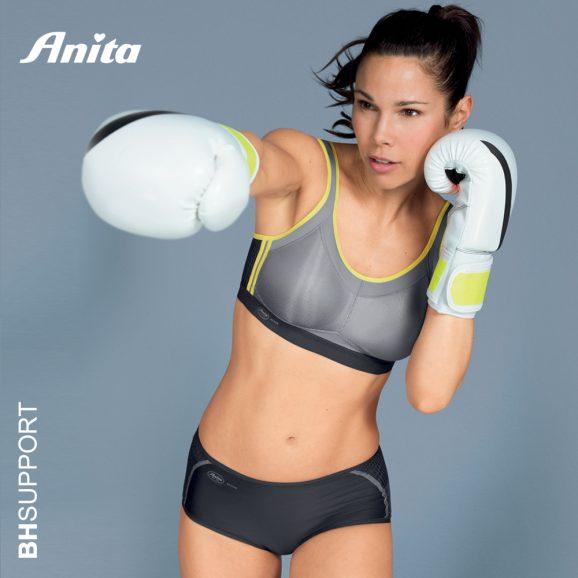 Stevige Anita Active sport bh zonder beugel in de kleur iconic grey