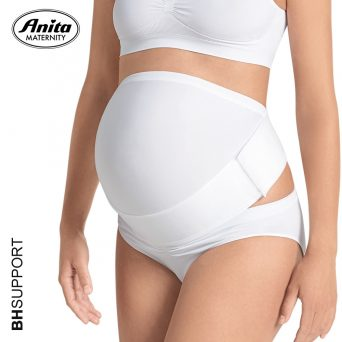 De witte Anita BabyBelt zwangerschapssteunband 1708 ondersteunt niet alleen je buik maar ook je rug.