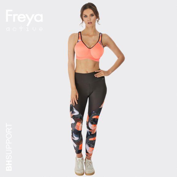 Sport bh met cups van spacer, Freya Sonic met beugel in de kleur coral
