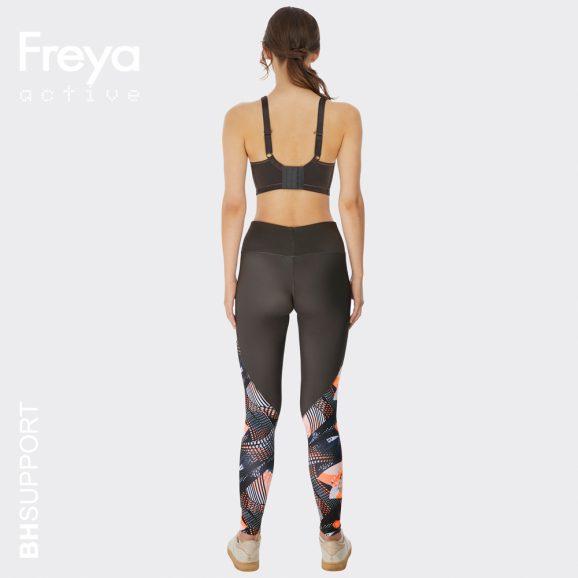 Achterkant van de Freya sonic sport bh in digital vision