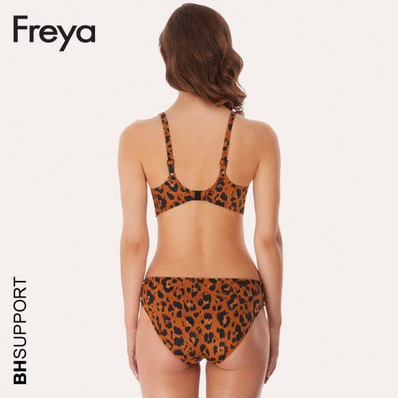 Freya swim Voorgevormde bikini top Roar Instinct met de 'sweetheart' halslijn laten je schouders en borsten goed uitkomen.