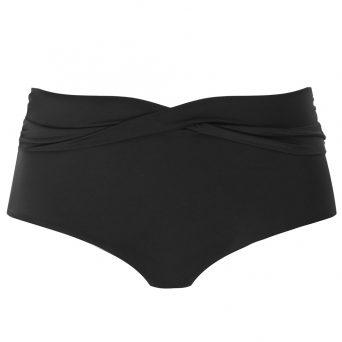 ELOMI Magnetic hoog bikini broekje met twist 'Zwart'.