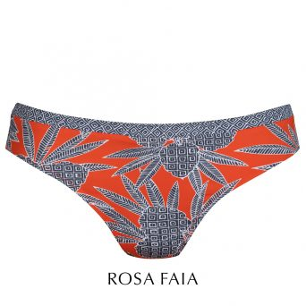 Rosa faia Bahia floral bikini broekje 'Mia'.