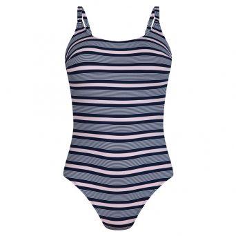 Rosa faia Beach romance badpak zonder beugel, niet-voorgevormd 'Estelle'.