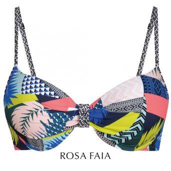 Rosa faia Caparica bay push-up bikini met beugel, voorgevormd 'Paulina'.