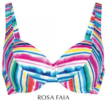 Rosa faia Malibu sun bikini met beugel, niet-voorgevormd 'Henny'.