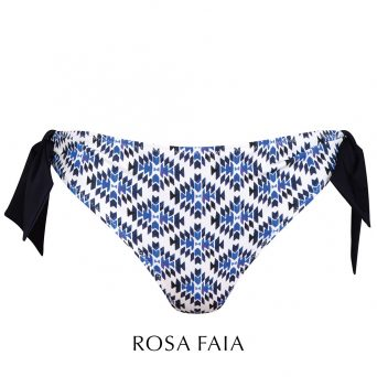 Rosa faia Maroccan tile bikini broekje 'Lynn'.