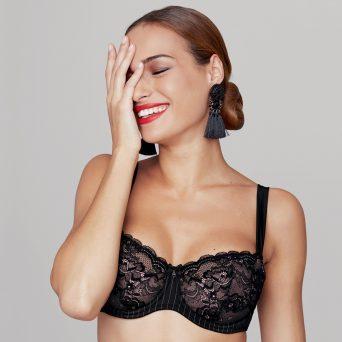 ROSA FAIA Antonia balconette bh met beugel, niet-voorgevormd 'Zwart'.