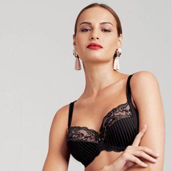 ROSA FAIA Antonia bh met beugel, niet-voorgevormd 'Zwart'.