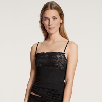 Calida sensual secrets spaghetti top in de kleur zwart.