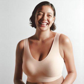 Chantelle softstretch voorgevormde padded top in de kleur nude.