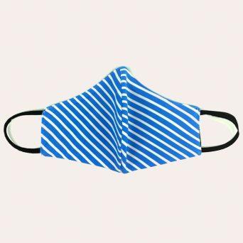 Mondkapje met print 'Stripes'.