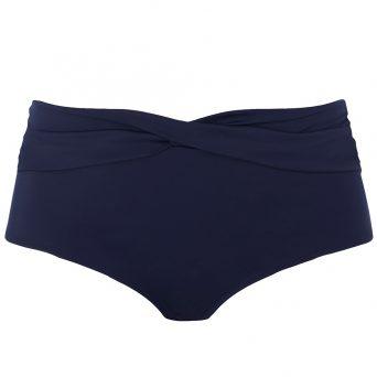 ELOMI Magnetic hoog bikini broekje met twist 'Zwart'..