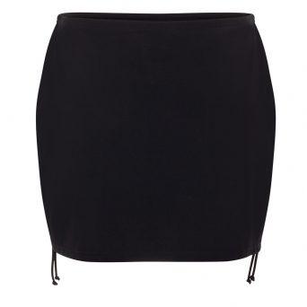 Rosa faia Mix & Match bikini rokje met slip 'Kim' zwart.