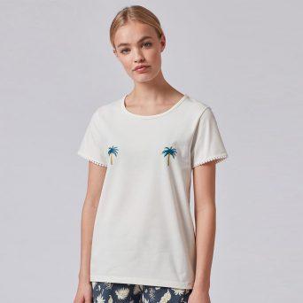 SKINY Tiener pyjama shirt voor meisjes 'Palm Tree'
