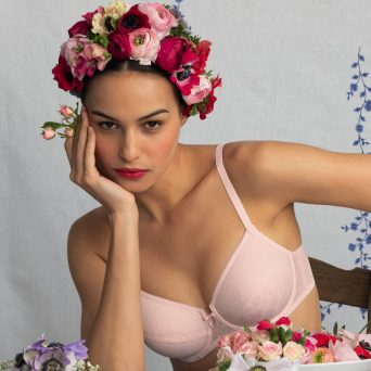 ROSA FAIA Fleur bh met beugel, niet-voorgevormd 'Blush pink' .