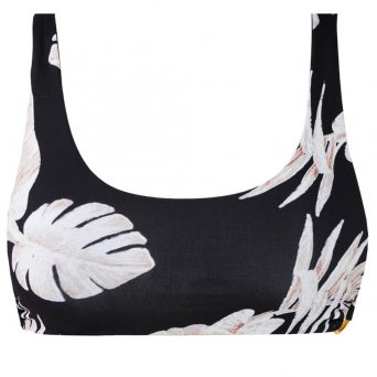 BANANA MOONLeaf bralette bikini Palco zonder beugel, niet-voorgevormd 'Zwart'