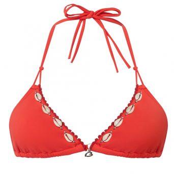 BANANA MOONSpring triangel bikini Yero zonder beugel, uitneembare vulling 'Rood'