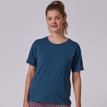 SKINY Every night in Skiny 01 Shirt korte mouwen 'Deep petrol'